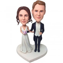 personalized wedding bobblehead cake topper