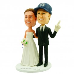 callas cowboy fans wedding bobble heads