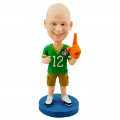 custom american football fan bobblehead