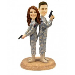 custom army combat uniform bobbleheads