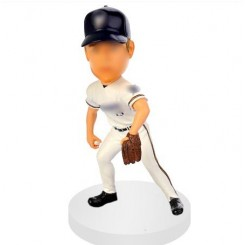 custom baseball bobblehead get ready for pitching