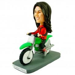custom bobblehead dirt bike female