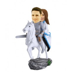 custom bobbleheads knight couple