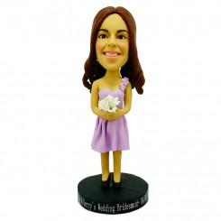 custom bridesmaid bobble head doll