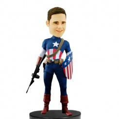 custom captain american bobblehead