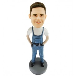 custom carpenter male bobblehead doll