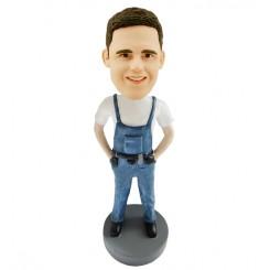 custom carpenter male bobblehead doll