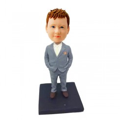 custom casual boy bobbleheads