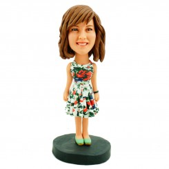 custom casual girl bobblehead
