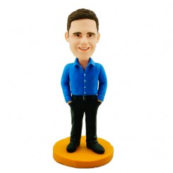 custom casual male colleague bobblehead
