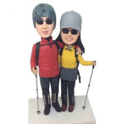 custom climber couple bobbleheads