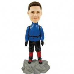 custom climber male bobblehead doll