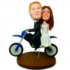 custom dirt bike wedding cake topper bobblehead