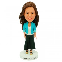 custom fashionable female office lady bobblehead