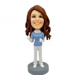 custom female dentist bobblehead