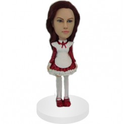 custom female in short victorian dress bobblehead