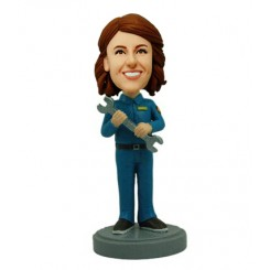 custom female repair worker bobblehead