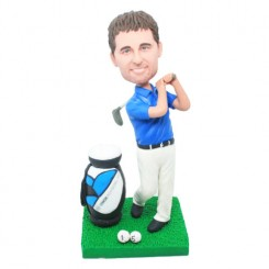 custom golfer bobblehead doll
