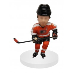 custom hockey bobblehead doll skating
