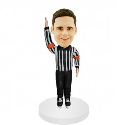 custom hockey referee bobblehead