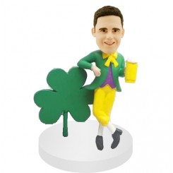 custom magician bobblehead beside trefoil