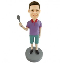 custom male bobblehead holding spatula bobblehead