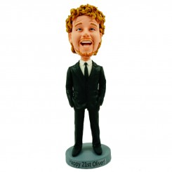 custom male colleague bobble head doll