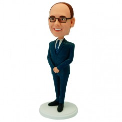 custom male colleague bobblehead
