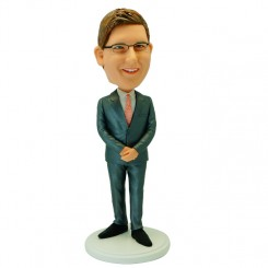 custom male colleague in a suit bobblehead