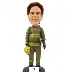 custom male firefighter bobble head doll