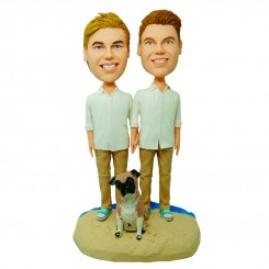 custom male homoerotism couple bobblehead