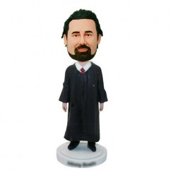 custom male judge in a long robe bobbleheads