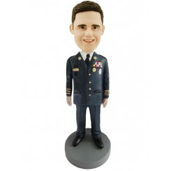 custom military officer bobblehead