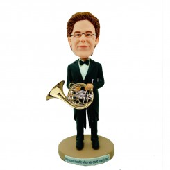 custom musician with his horn bobblehead doll