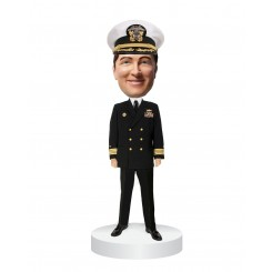 custom navy officer bobblehead in uniform