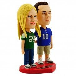 custom nfl fans couple bobblehead