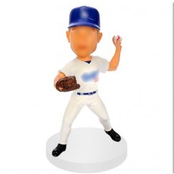 custom patcher baseball bobble head doll