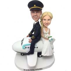 custom pilot wedding bobbleheads