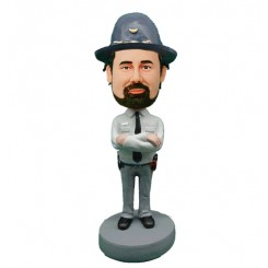 custom police state trooper bobblehead doll
