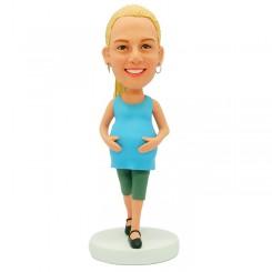 custom pregnant bobblehead