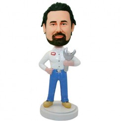 custom repairman with a spanner bobbleheads