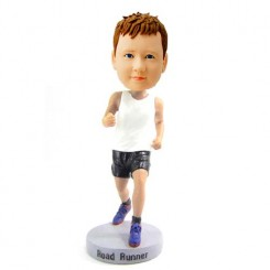 custom running boy bobblehead