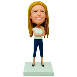 custom slim lady bobblehead
