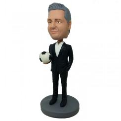 custom soccer coach bobblehead