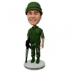 custom soldier bobblehead
