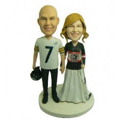 custom sports fans wedding cake toppers