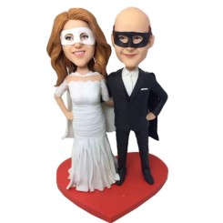 custom the mask of zorro couple bobbleheads