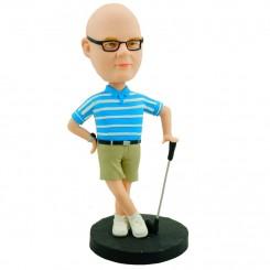customised golfing bobblehead