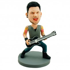 customised guitarist bobble head doll
