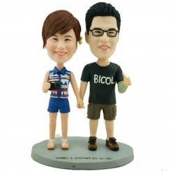 customised photographer couple bobblehead